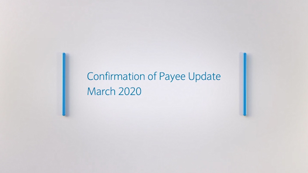 Confirmation Of Payee Barclays Corporate